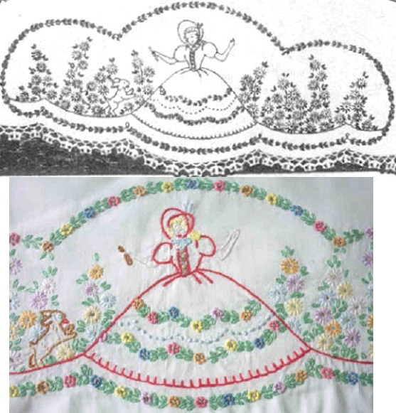 Primary image for Southern Belle - Crinoline Lady pillowcase crochet & embroidery pattern LW220