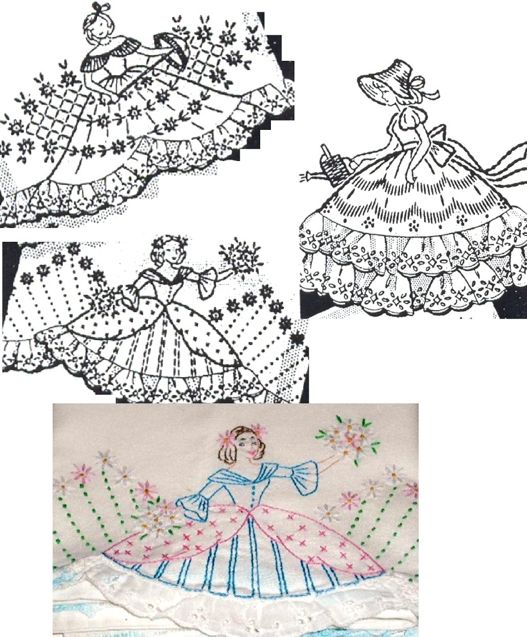 Primary image for 3* Southern Belle - Crinoline Lady eyelet trim pillowcase pattern mo604