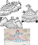 3* Southern Belle - Crinoline Lady eyelet trim pillowcase pattern mo604 - $5.00