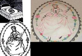 Southern Belle - Crinoline Lady Bedspread embroidery pattern LW729   - $5.00