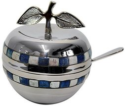 Majestic Giftware HD510 Honey Dish with Blue/White Stone and Glass Inser... - $38.49