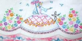 Southern Belle - Crinoline Lady pillowcase crochet & embroidery pattern LW1001   - $5.00