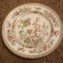Antique Royal Doulton Art Deco Bone China Plate pink flower  - $19.67