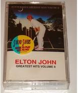ELTON JOHN GREATEST HITS ORIGINAL CASSETTE VOLUME II   1992 - $123.75