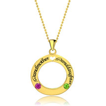 Pugster Circle Love Necklace Crystal Custom Made Name Pendant Necklace  - £36.69 GBP