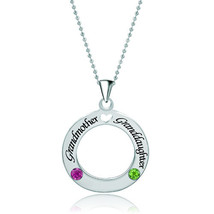 Pugster Circle Love Necklace 925 Sterling Silver Crystal Custom Made Pen... - $50.99