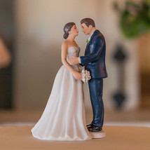 Contemporary Vintage Romantic Couple Wedding Cake Topper Custom Hair Mod... - $23.98+