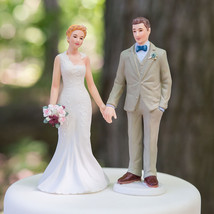 Woodland Casual Wedding Couple Cake Topper Custom Hair Reception Gift Ch... - $23.98+