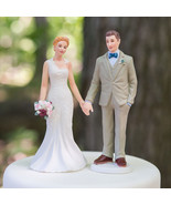 Woodland Casual Wedding Couple Cake Topper Custom Hair Reception Gift Ch... - $23.98+