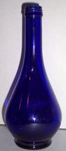 Acoua Della Madonna Cobalt Blue Collectible Tear Drop Press Glass Bottle... - $50.00
