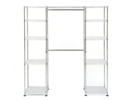 Ultra Zinc Heavy Duty Steel Expandable Closet Room Wardrobe Shelves Orga... - $2.440,98 MXN