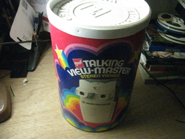 1973 GAF Talking Viewmaster Stereo Viewer in Original Can - $35.00