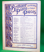 Vintage Early 1900s Sheet Music, Brilliant Piano Pieces Series - $4.95