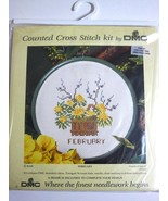 DMC  Counted Cross Stitch Kit February Frame Gift Card New FREE Shipping - $3.06