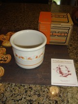 Longaberger Pottery Candy Corn Halloween One Pint Crock - $16.99