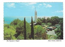 CA Palos Verdes Wayfarers Chapel Lloyd Wright Vintage Postcard - $4.74