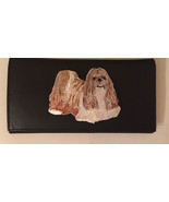 Shih Tzu Dog Breed Black Leather Checkbook Cover Shih tzu - $23.00