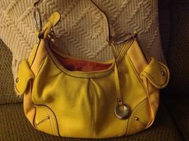 Franco Sarto Handbag Yellow Hobo Shoulder Bag - $35.64