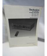 Technics SA-GX130 SA-G9013 AV Control Receiver Operating Instruction Manual - $9.92