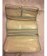 Travel Roll Up Jewelry Organizer Carrier Beige Satin - $9.85