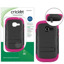 Cricket Pink EcoSmart Kickstand Shield Hard Case for Samsung Galaxy Disc... - $5.99
