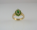 Emerald cz cluster gold ladies ring  2  thumb155 crop