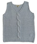 Carolyn Taylor Size M Womens Blue Pullover Vest Sweater - $12.99