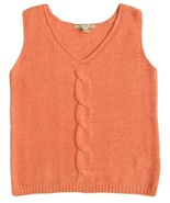 Carolyn Taylor Size M Womens Peach Pullover Vest Sweater - $12.99