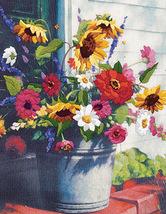 Bucket Of Flowers Cross Stitch Pattern***L@@K*** - $4.95