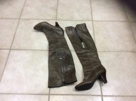 FRYE Dannika Boots Brown Leather Gray Piping Cuffed Zip women  sz 7  $389 - $185.72