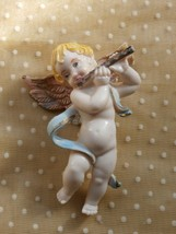 Angel or Cherub Christmas Ornament, Made in Italy, Holding Flute, FREE S... - $9.89