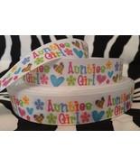 "1 Yard 7/8"" AUNTIES GIRL Grosgrain Ribbon - $0.98"