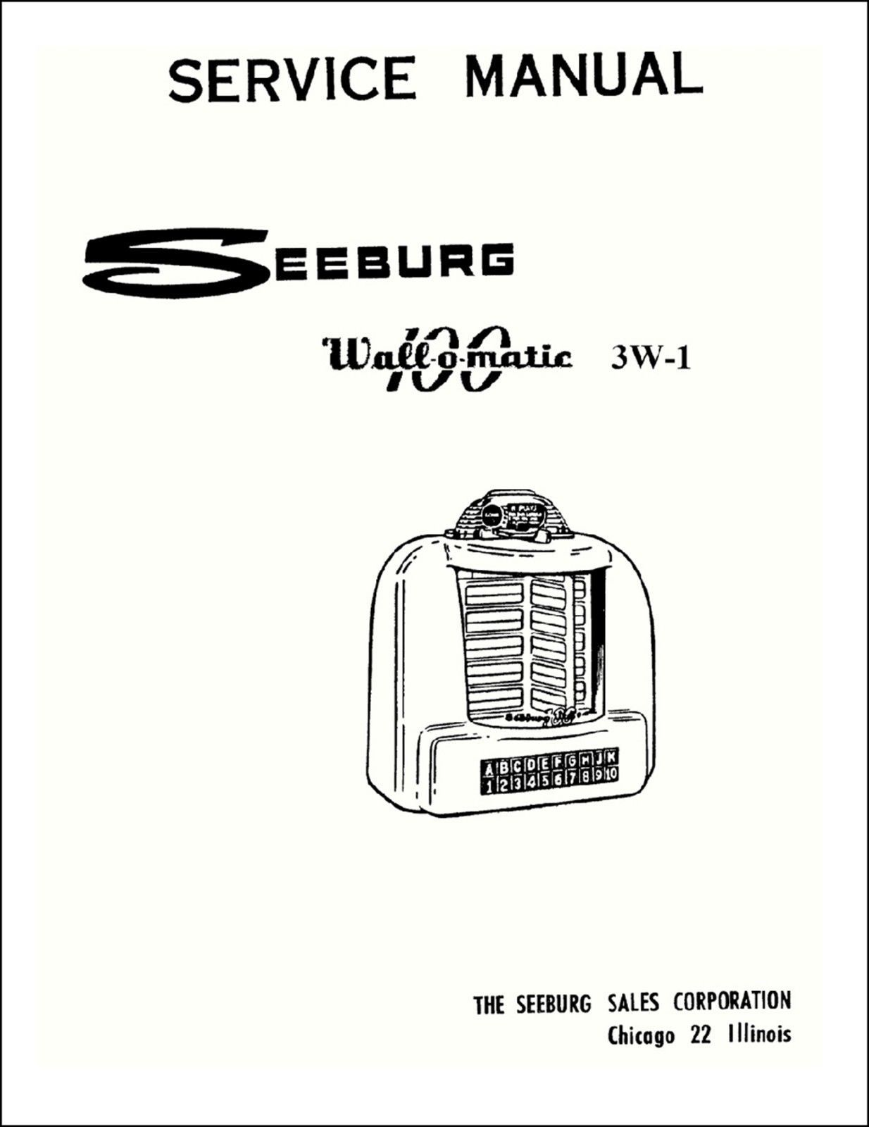 5 Seeburg Jukebox Manuals On 1 Pdf and 50 similar items