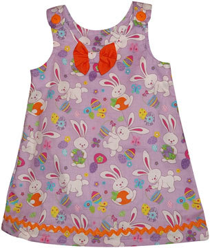 Toddler 3T Girls Easter Bunny Dress