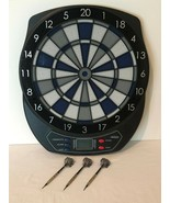 Electronic Dart Board 64310 Blue Gray Black with 3 Plastic Tip Darts Hal... - $29.99