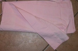 1 pottery barn curtain drapes gingham pink checks blackout panel excellent cond - $25.31