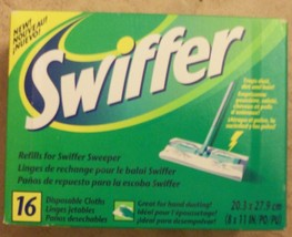 swiffer refills16 disposable cloths nib - $2.83