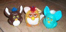3 furbies 2 plastic 1 soft mcdonalds - $8.99