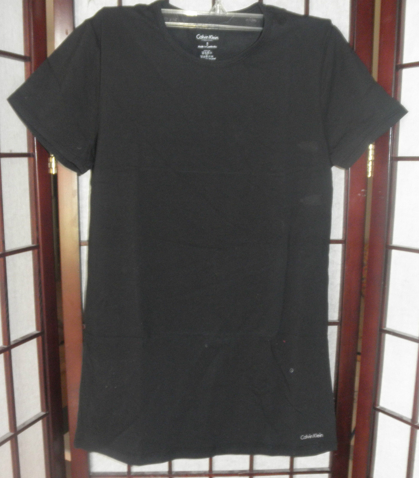 Primary image for 2 womens top t shirt calvin klein size small pink and black new with tags