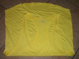 womens tank top size large by stem nwot yellow racerback - $11.53