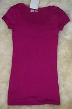 womens t shirt by bp dark fusia size small nwt cap short sleeves - $11.53