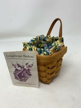 Longaberger 1996 Chives Booking Basket w/ Liner, Protector and Certificate - $24.74