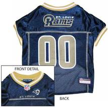 St. Louis Rams Dog Jersey XS * Blue Home Game Colors NFL Football Pet Puppy - €21,87 EUR