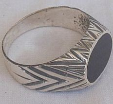 Black surface man ring 1 thumb200