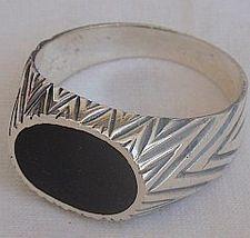 Black surface man ring 3 thumb200