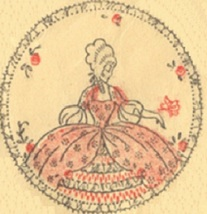 Crinoline Lady / Southern Belle Boudoir set embroidery pattern Mc1487 - $5.00