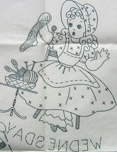 Bonnet / Sunbonnet Girls week days TOWEL embroidery pattern LW897  - $5.00