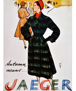 "20x30""Poster on Canvas.Interior design Art.Retro fashion.Jaeger clothes.... - $60.78"