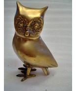 Goldtone 5.5 inch Metal Owl - $8.00