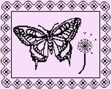 Breezy monochrome butterfly